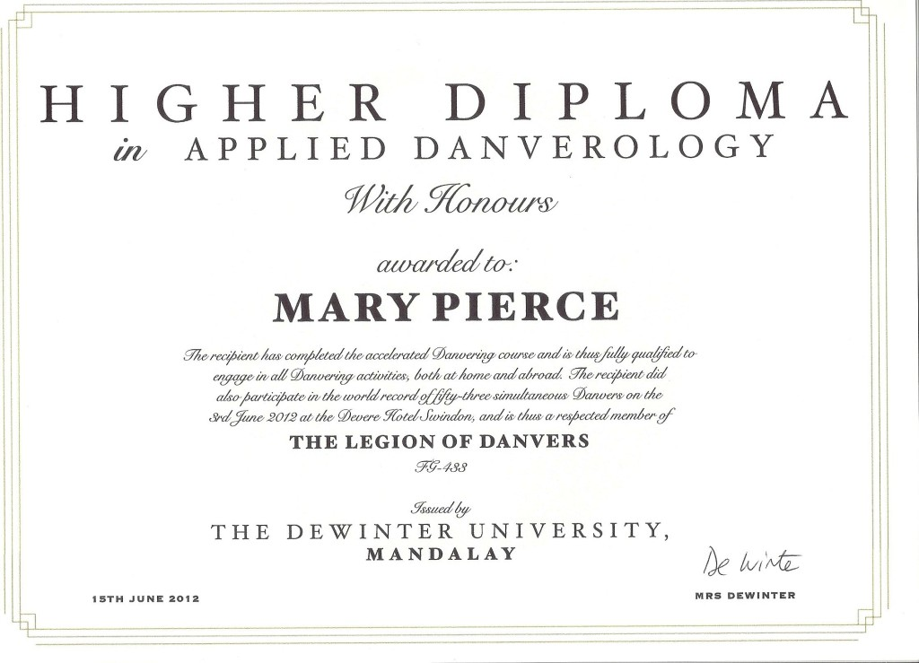 Applied Danverology Diploma