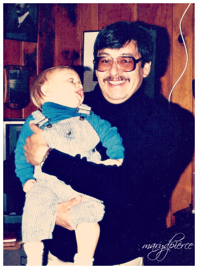 Puck holding my son.  Still the same smile.