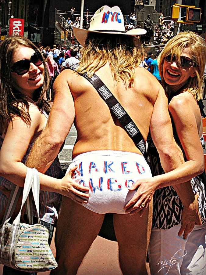 The Naked Cowboy at Times Square.