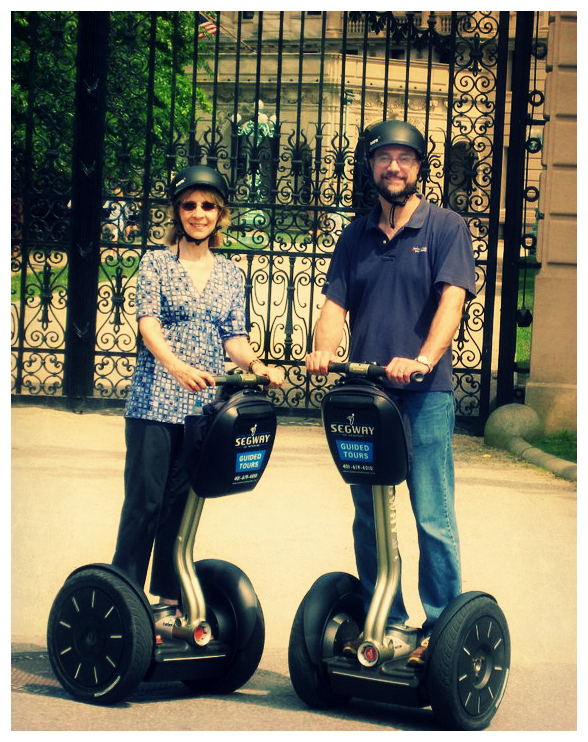 The couple who segway together, stay together.